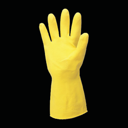 Latex Household Gloves - Yellow - case of 144 pairs