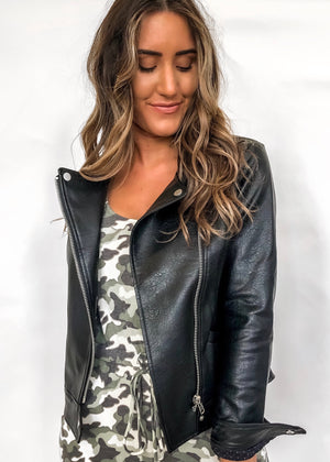 BRITT VEGAN LEATHER JACKET