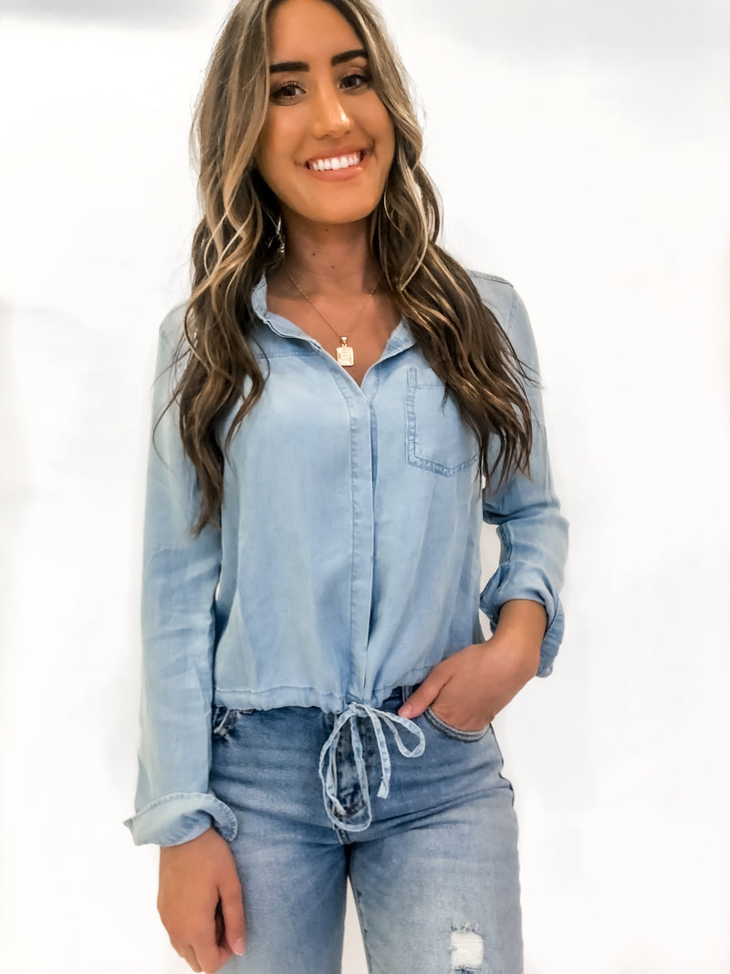 KEELY DENIM TOP