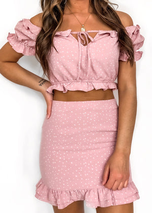 STARLIGHT RUFFLE HEM SKIRT