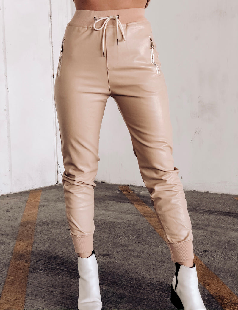 SWEET LIKE HONEY LEATHER JOGGER
