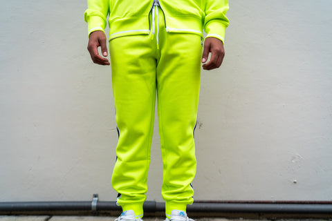Psycho Bunny Clifton Track Pants (Electric Green)