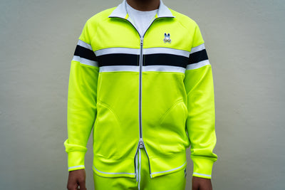 Psycho Bunny Clifton Track Jacket (Electric Green)