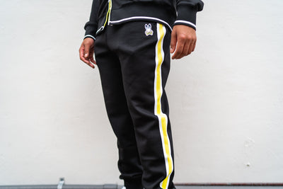 Psycho Bunny Clifton Track Pants (Black)