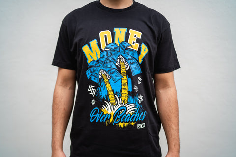 Money Over Beaches (Blue/Yellow)