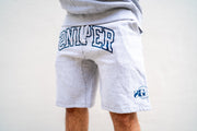 Sniper Gang Varsity Sweat Shorts (Grey)