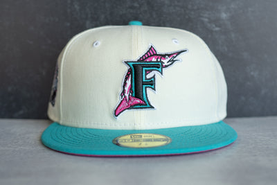 New Era Florida Marlins 1993 Inaugural Season Fuchsia UV (Sail/Teal)