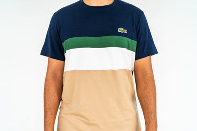 Lacoste Color Block Tee (Navy/Green)