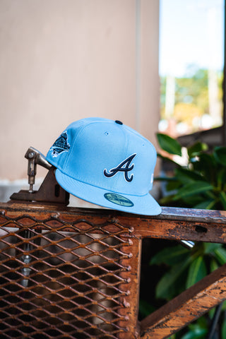 New Era X Offset Atlanta Braves Fitted Cap