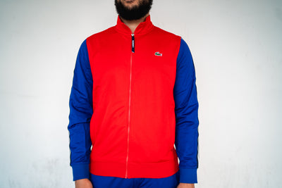 Lacoste Tracksuit Jacket (Red/Blue)