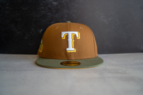 Texas Rangers World Series Fitted Cap (Brown/Olive)
