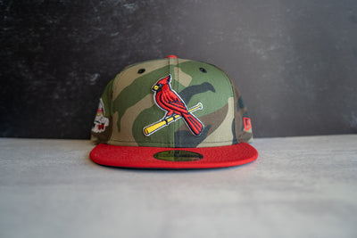 St Louis Cardinals ASG Fitted Cap (Camo/Red)