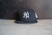 New York Yankee World Series Grey UV Fitted Cap
