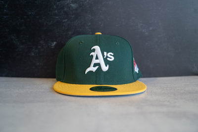 Oakland Athletics World Series Fitted Cap (Green/Yellow)