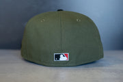 New Era Montreal Expos Anniversary Fitted Hat (Olive/Red)
