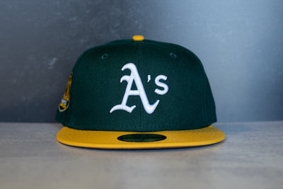 New Era Oakland Athletics Anniversary Fitted Hat (Green/Gold)