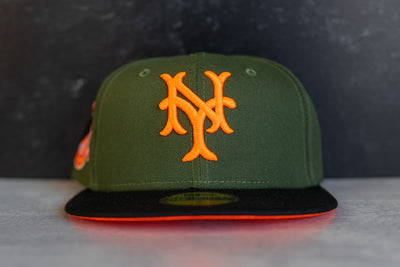 New York Giants 1954 World Series Fitted Cap Orange UV (Olive/Orange)