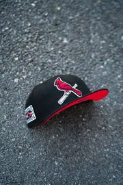 St Louis Cardinals 2006 World Series Fitted Cap Magenta UV (Black/Red)