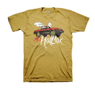 Sniper Gang Hot Box Cutlas Tee (Antique Gold)