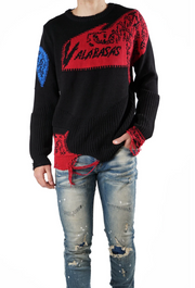 "Valabasas Sweater ""Komodo"" (Red/Royal)"