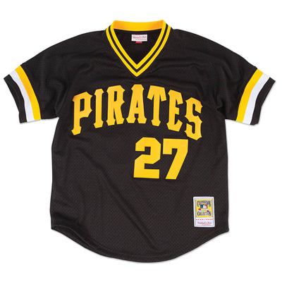 Authentic Mesh BP Jersey Pittsburgh Pirates 1982 Kent Tekulve