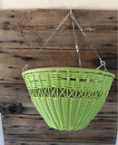 Green outdoor hanging flower basket - Outdoor hanging plant basket - Ok Yankee Girl