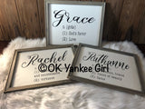 Custom wooden framed sign - custom saying sign - personalized sign - custom name definition signs - Ok Yankee Girl