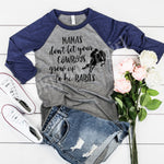 Mama's dont let your cowboys grow up to be babies - funny mama's and cowboys top - Ok Yankee Girl