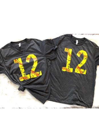 Custom softball number tshirt - Ok Yankee Girl