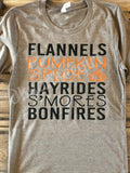 Flannels pumpkin spice hayrides tshirt - fall lover tee - smores and bonfire tee - Ok Yankee Girl