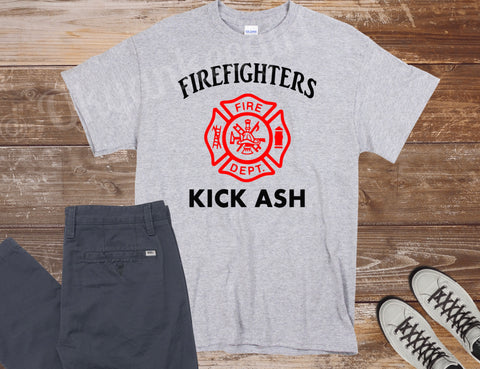 Firefighters kick ash T-shirt - Ok Yankee Girl