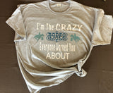 I'm the crazy rodeo mom everyone warned you about t-shirt - Funny rodeo mom t-shirt - - Ok Yankee Girl