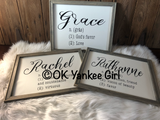 Custom name definition wooden framed sign - Ok Yankee Girl