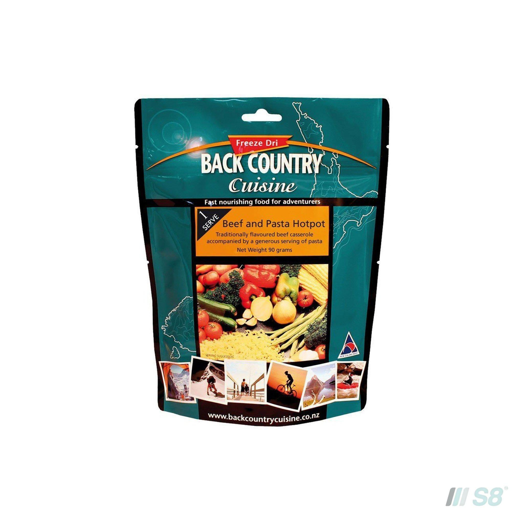 Back Country Cuisine Beef & Pasta Hotpot-BCC-S8 Products Group