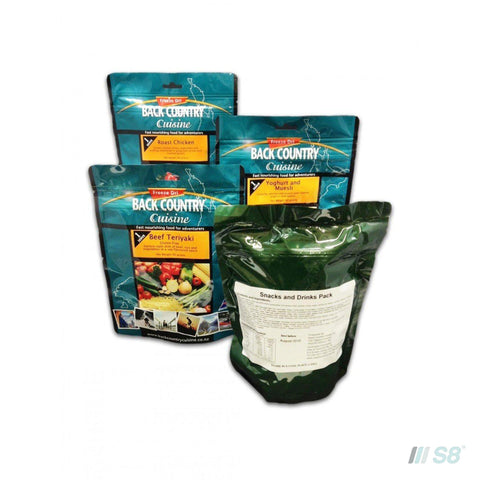 Back Country Cuisine One Day Ration Packs - Adventure-BCC-S8 Products Group