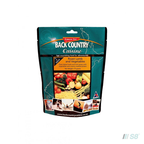 Back Country Cuisine Roast Lamb & Veges-BCC-S8 Products Group