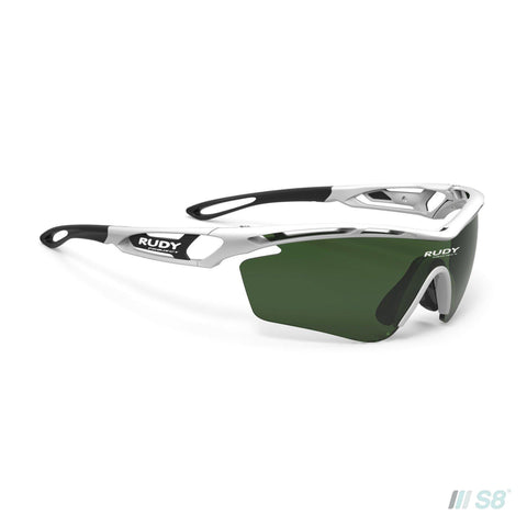 Rudy Project - Tralyx Sunglasses / White Gloss / Impactx Photochromic Golf Green lenses-Rudy Project-S8 Products Group