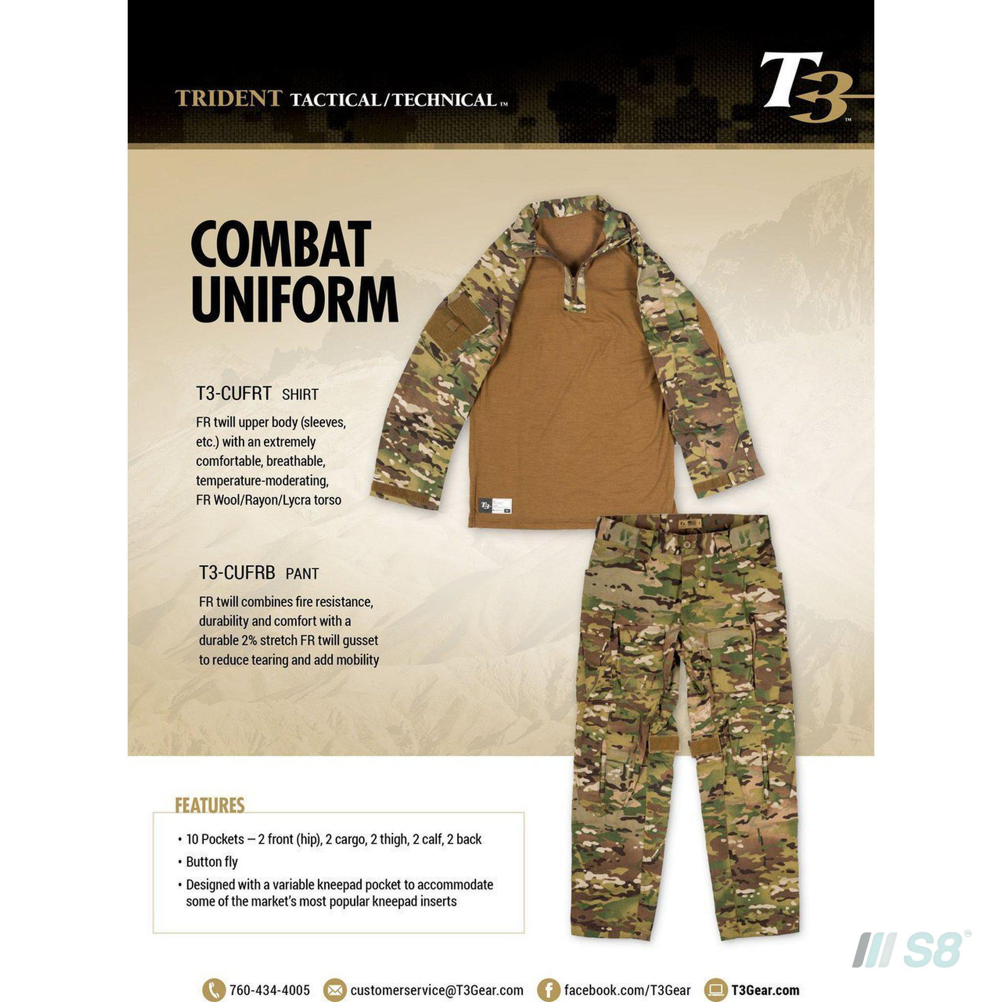 T3 Fire Resistant Combat Uniform Bottom-T3-S8 Products Group