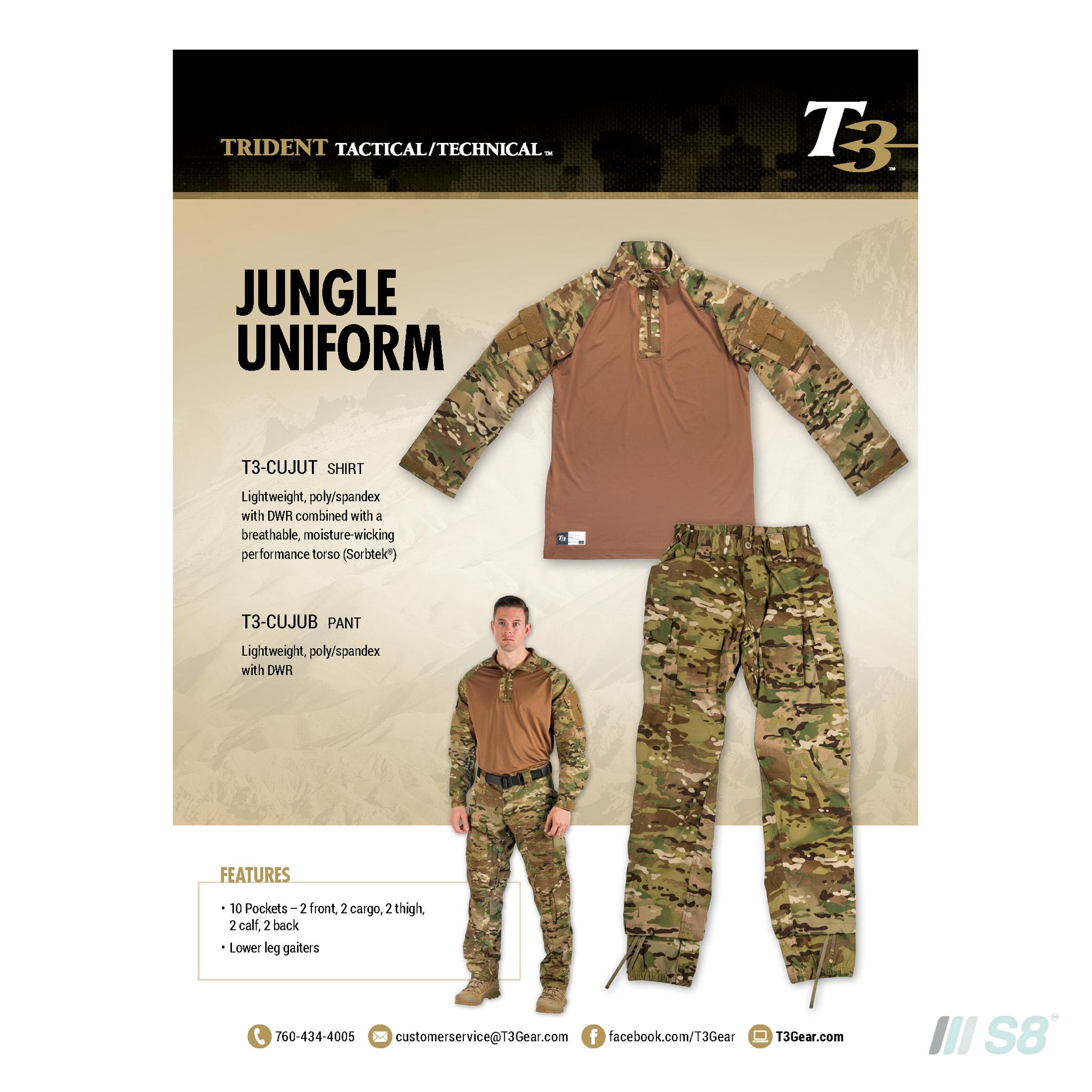 T3 Jungle Uniform- Bottom-T3-S8 Products Group