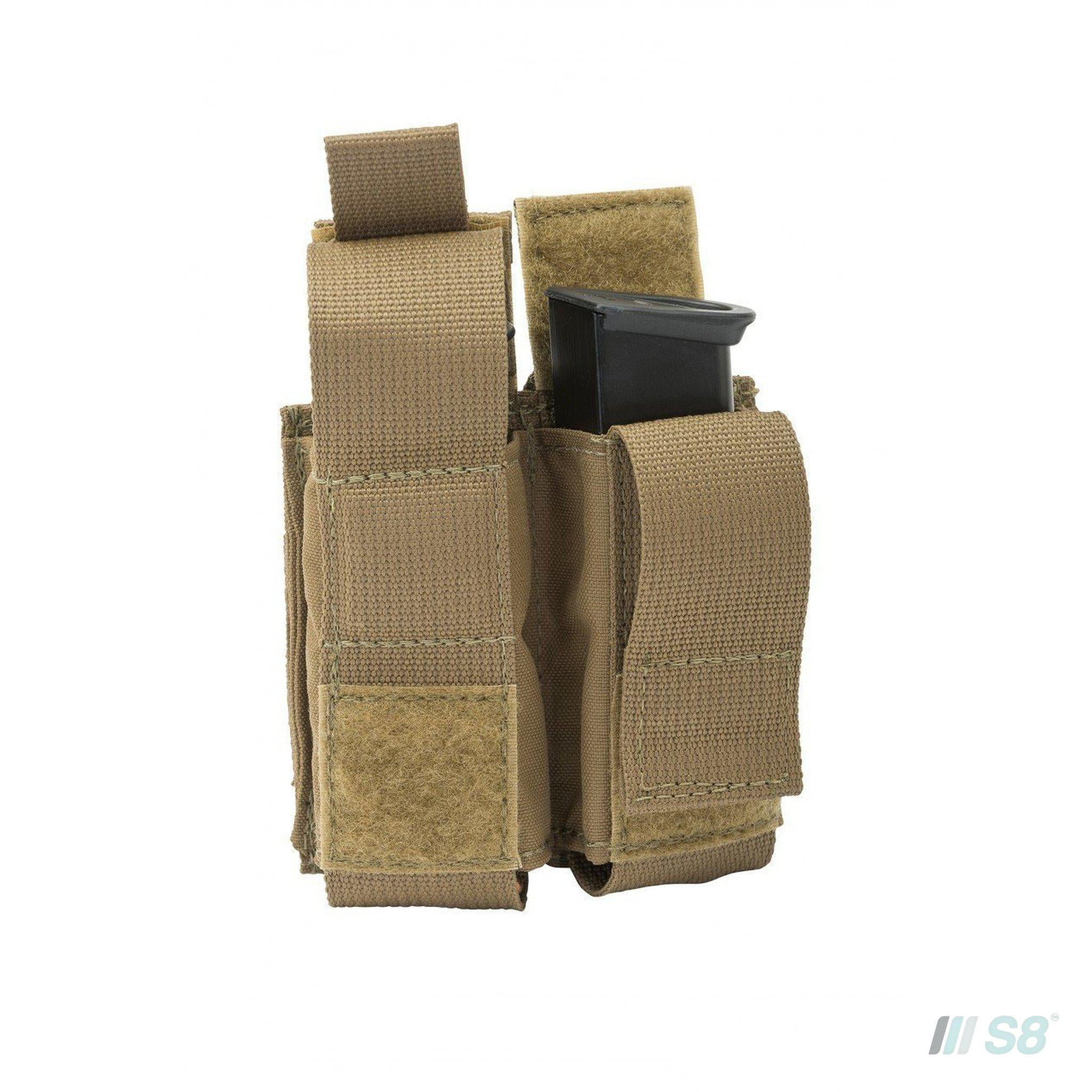 T3 Magnet Double Pistol Mag Pouch + Flap (2)-T3-S8 Products Group