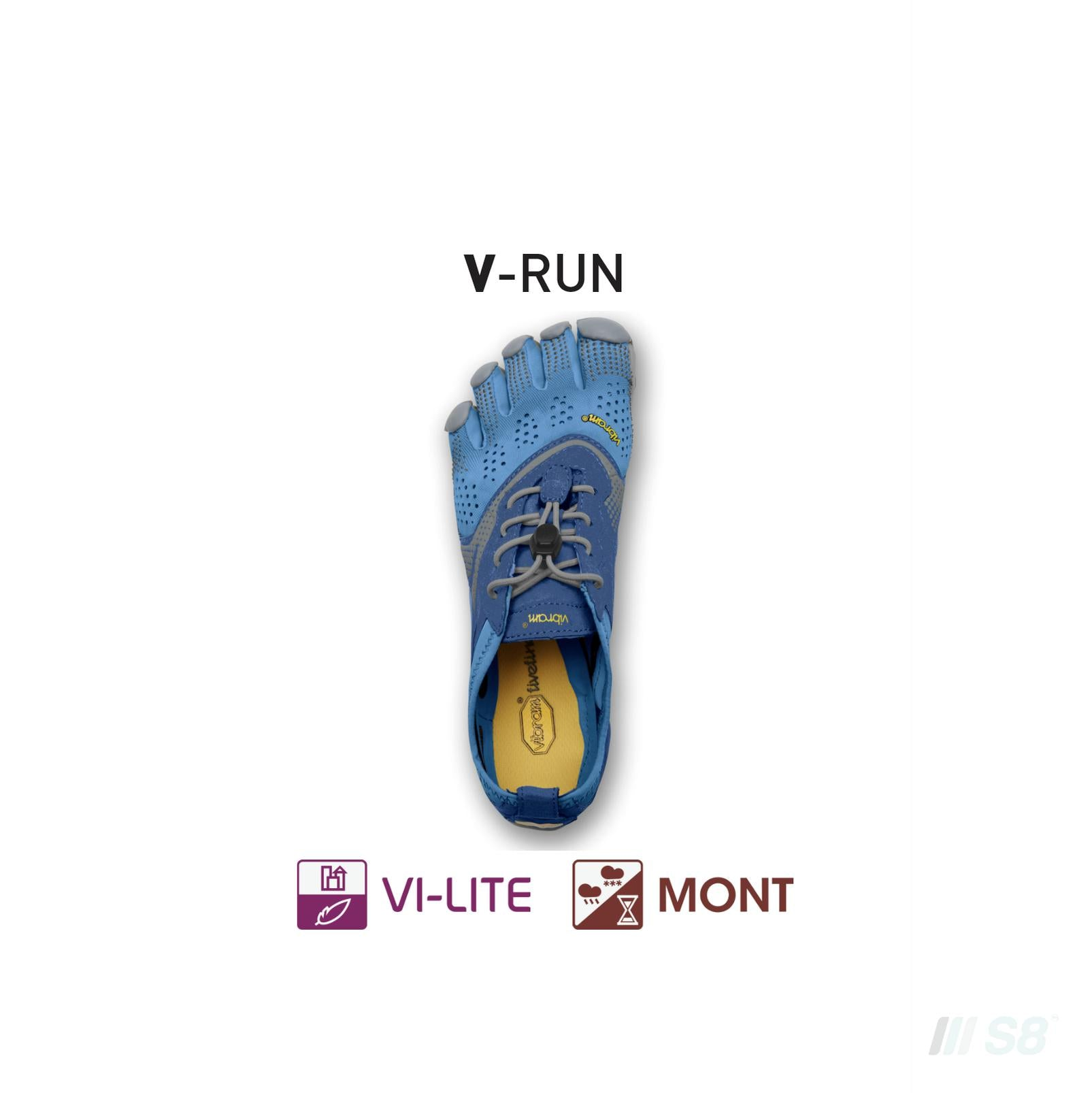 V-RUN – Womens (Blue)-Vibram FiveFingers-S8 Products Group