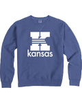 "Kansas ""K"" Garment Dyed Blue Sweatshirt"