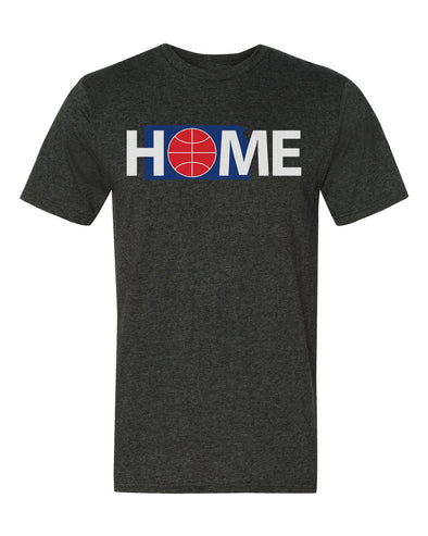Home Basketball Tee in Charcoal Heather