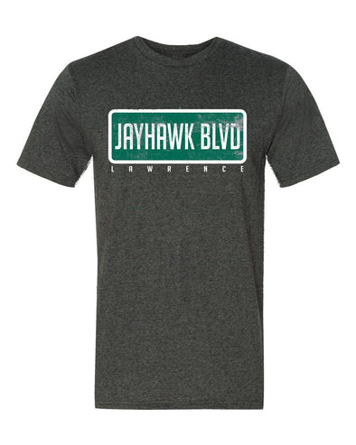 Jayhawk Boulevard Tee Tee in Charcoal Heather