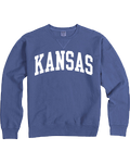 Kansas Garment Dyed Blue Sweatshirt