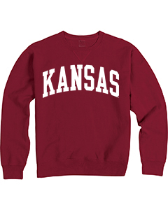 Kansas Garment Dyed Red Sweatshirt