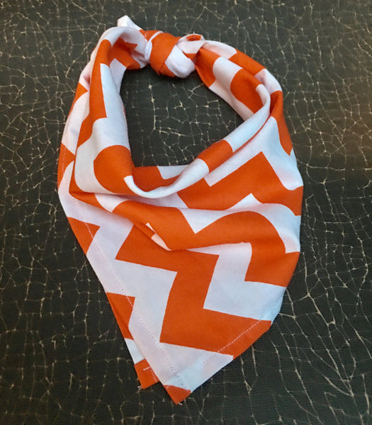 Bandana - Tiger Chevron | Here, Cricket! A Pet Boutique for Pretentious Pets