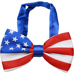 American Flag Bow Tie for Big Dogs | Here, Cricket! A Pet Boutique for Pretentious Pets