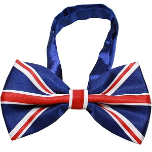 British Flag Bow Tie for Big Dogs | Here, Cricket! A Pet Boutique for Pretentious Pets