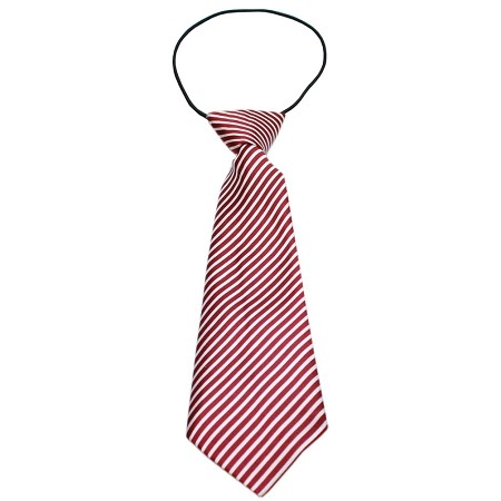 Red and White Neck Tie for Big Dogs | Here, Cricket! A Pet Boutique for Pretentious Pets